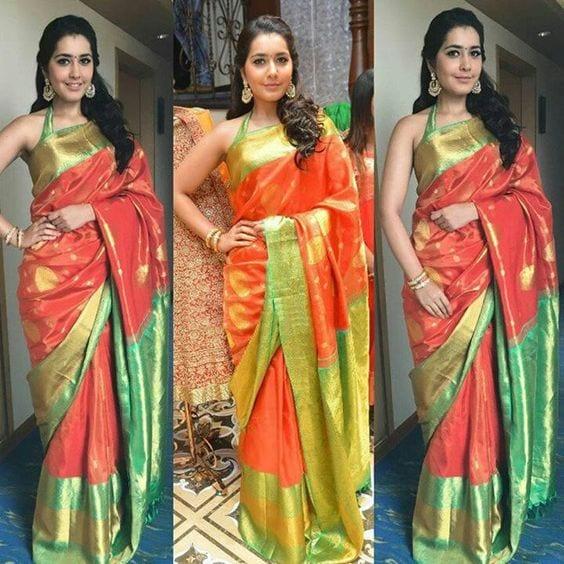 rashi khanna The Traditional With a Twist Look