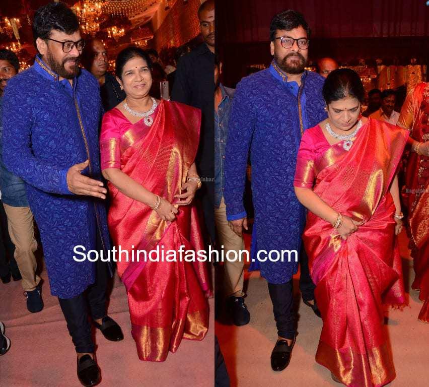 chiranjeevi and surekha at shriya bhupal wedding