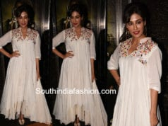 chitrangda white layered kurta saheb biwi screening