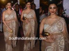 daisy shah in manish malhotra saree at poorna patel wedding reception