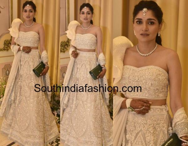 Sanchita in Floor Length Anarkali -South India Fashion