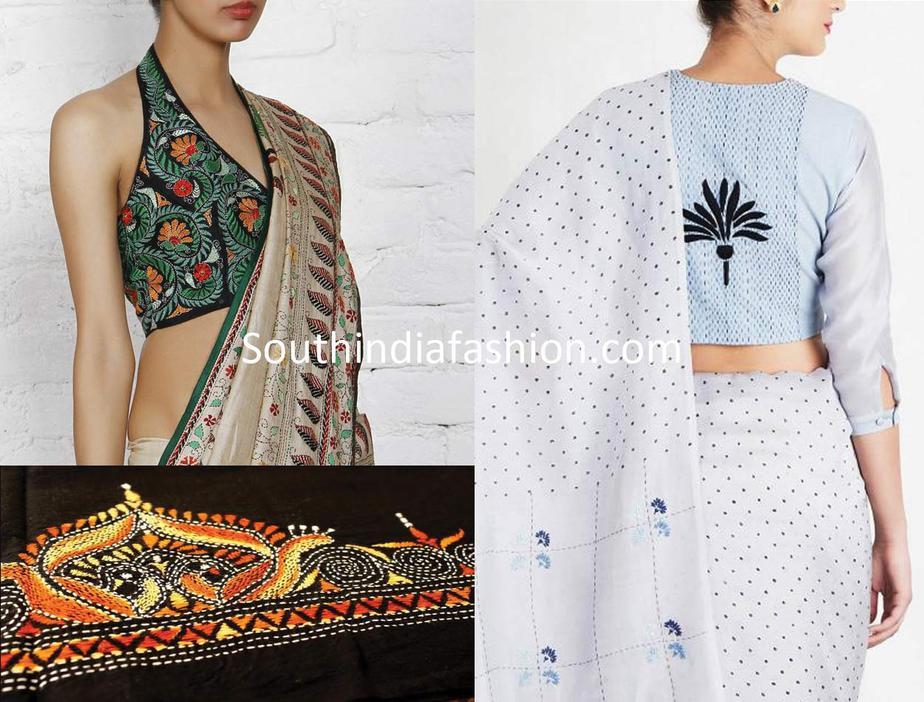 kantha work blouse designs