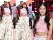 janhvi kapoor floral skirt crop top dhadak poromotions