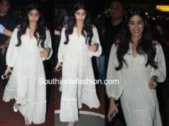 janhvi kapoor white maxi dress dhadak screening