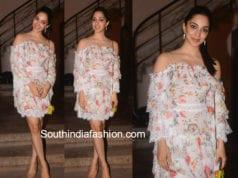 kiara advani white dress