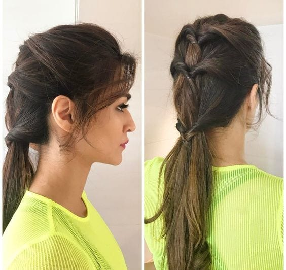 twisted pony tail
