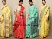 linen sarees shop online