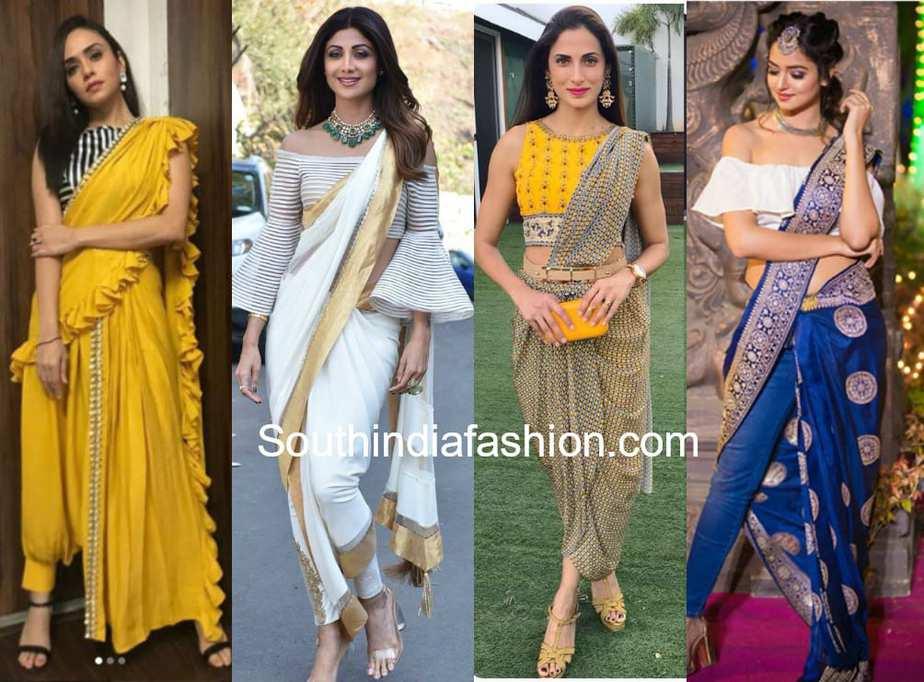 modern saree draping styles