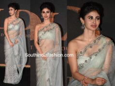 mouni roy hot saree for gold promotions