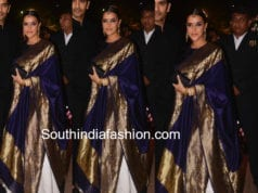 neha dhupia in raw mango lehenga at poorna patel wedding reception