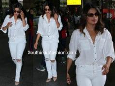 priyanka chopra airport white dress