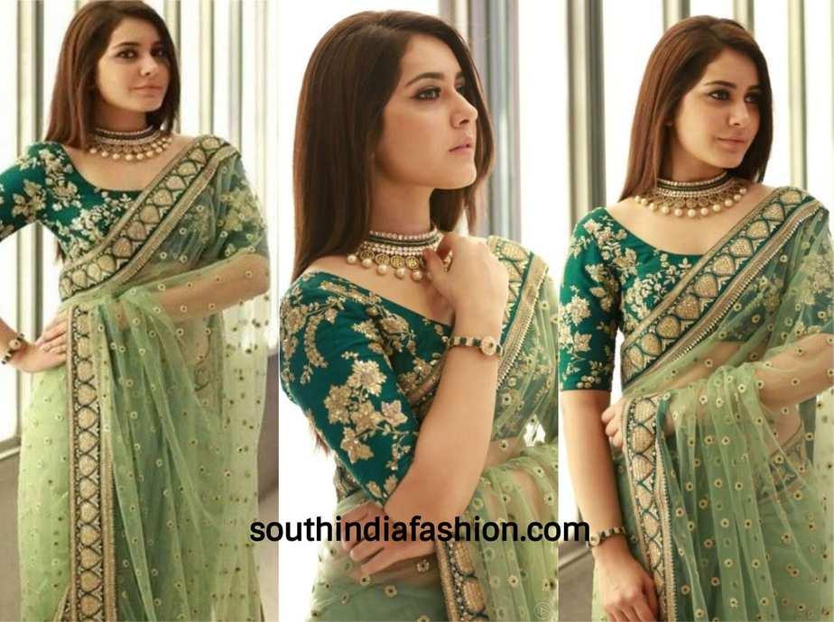 rashi khanna saree look