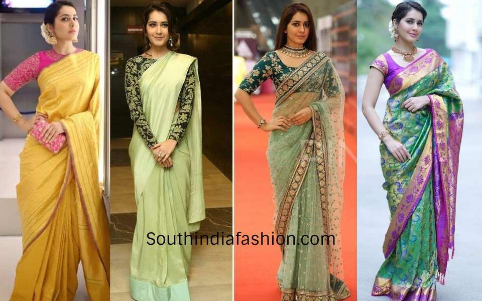 rashi khanna saree looks