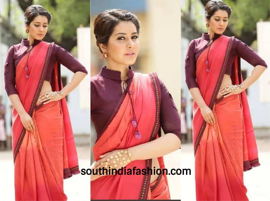 rashi khanna cotton saree