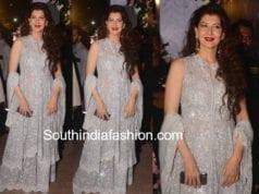 sangeeta bijlali sharara suit at poorna patel wedding reception