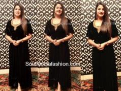 sangeeta black velvet dress