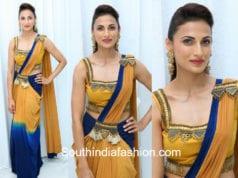 shilpa reddy saree gown