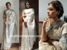 sri divya silver saree