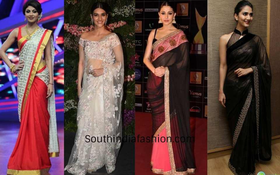 tall actresses in saree