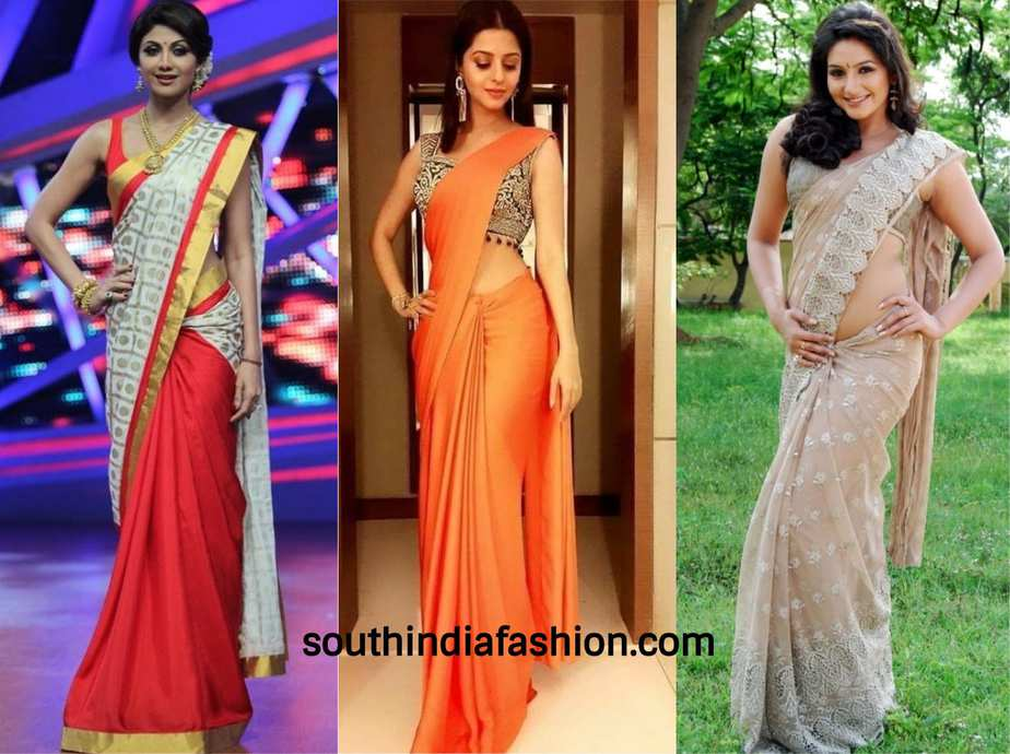 tall girls in sarees