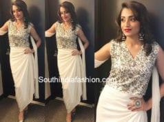 trisha krishnan white dress