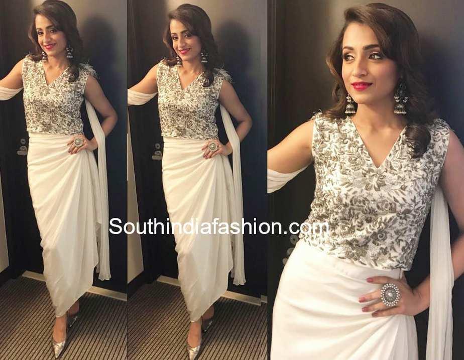 dc5e0988ee Trisha Krishnan in Samatvam by Anjali Bhaskar – South India Fashion