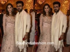 ram charan and upasana at shriya bhupal wedding