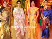 celebrity sarees in shriya bhupal wedding