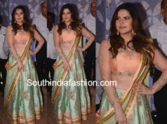 zareen khan lehenga in poorna patel wedding reception