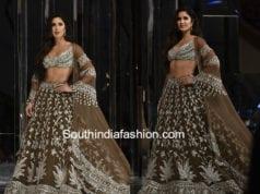 katrina kaif lehenga manish malhotra fashion show