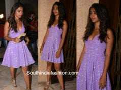 pooja hegde lavender gown manish malhotra party