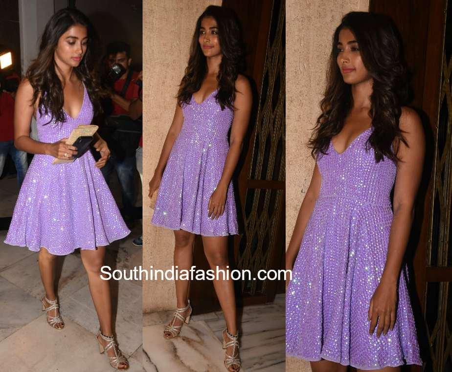 pooja hegde lavender gown manish malhotra party