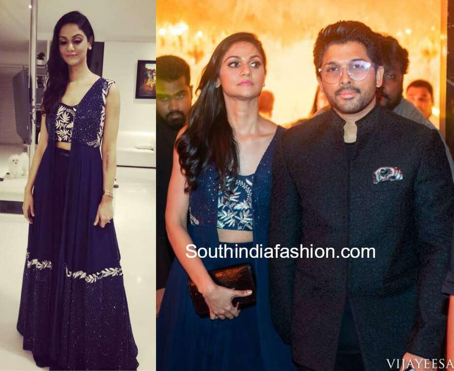 allu arjun and sneha reddy at sabitha indra reddy son wedding reception