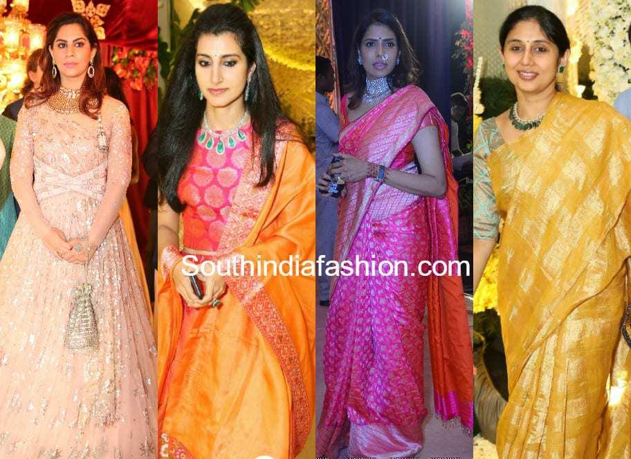 best celebrity outfits at shriya bhupal anindith reddy wedding