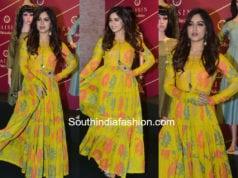 bhumi pednekar yellow maxi dress raisin