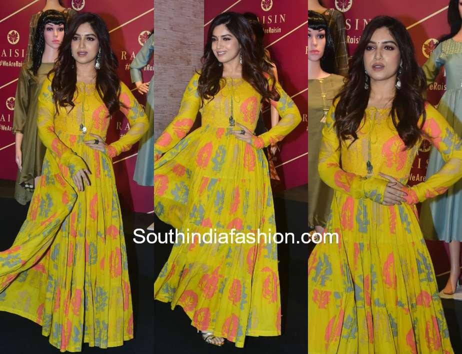 901dc47e9d Bhumi Pednekar in Raisin – South India Fashion