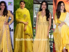 celebrities in yellow ethnic wear