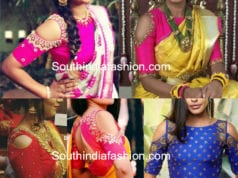 cold shoulder blouse for silk sarees