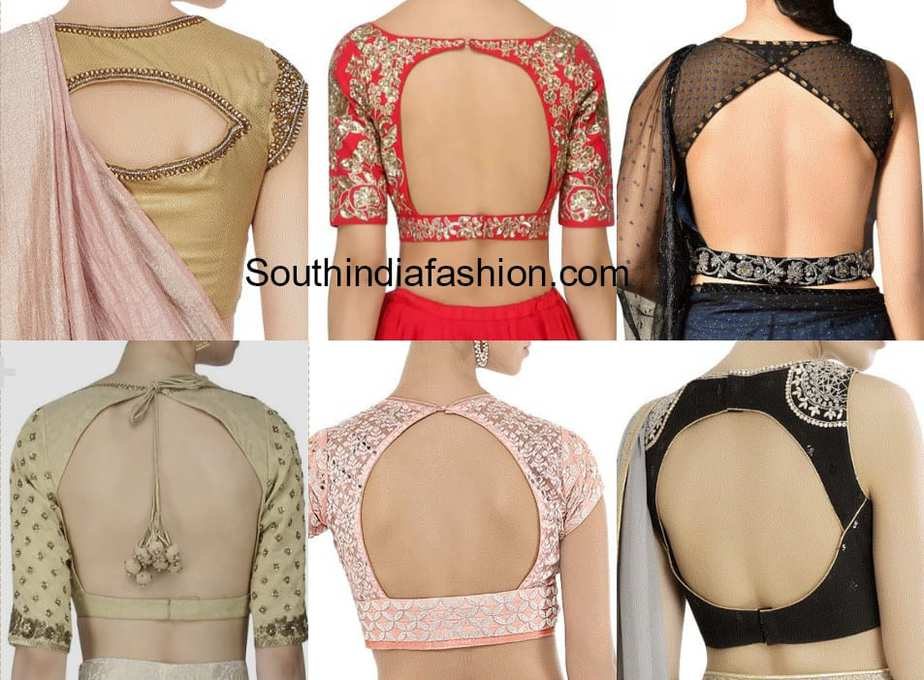 cut out blouse back neck designs