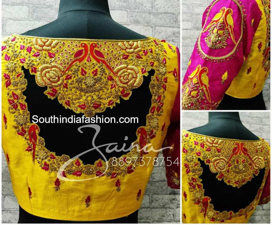 designer pattu saree blouse models � south india fashion
