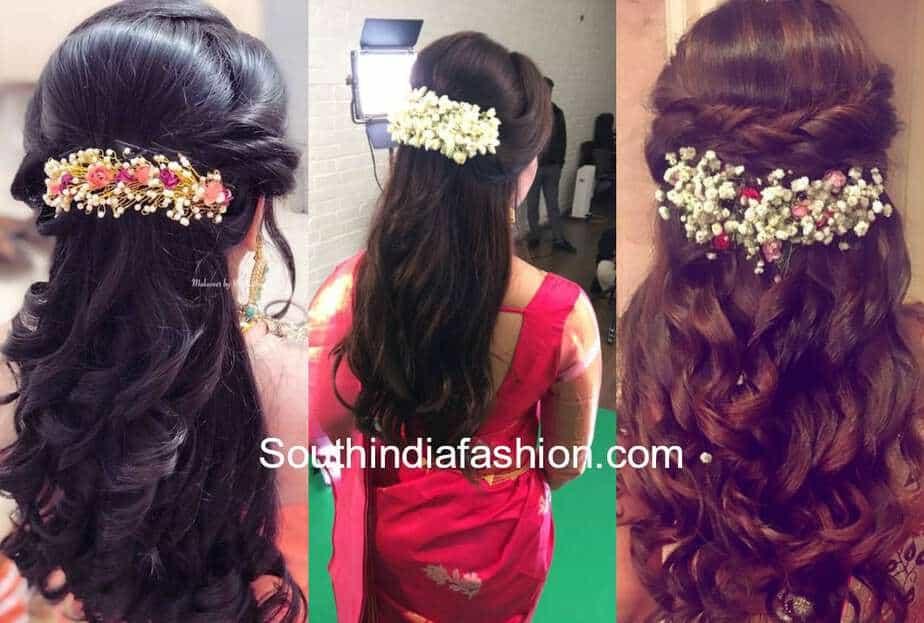 flower clip hairstyles