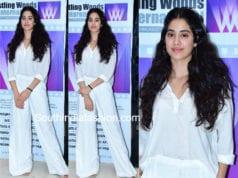 janhvi kapoor white dress