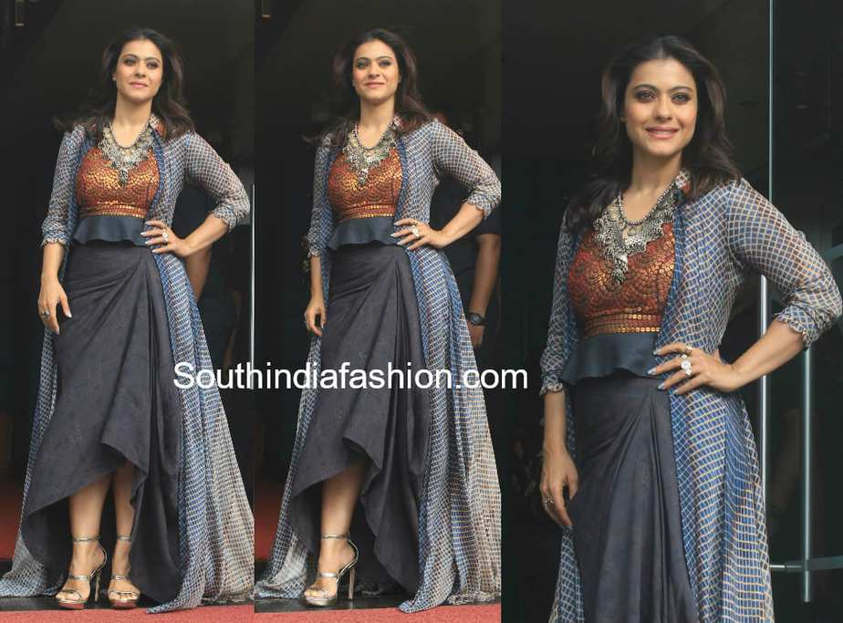 kajol in anoli shah for helicopter eela promotions