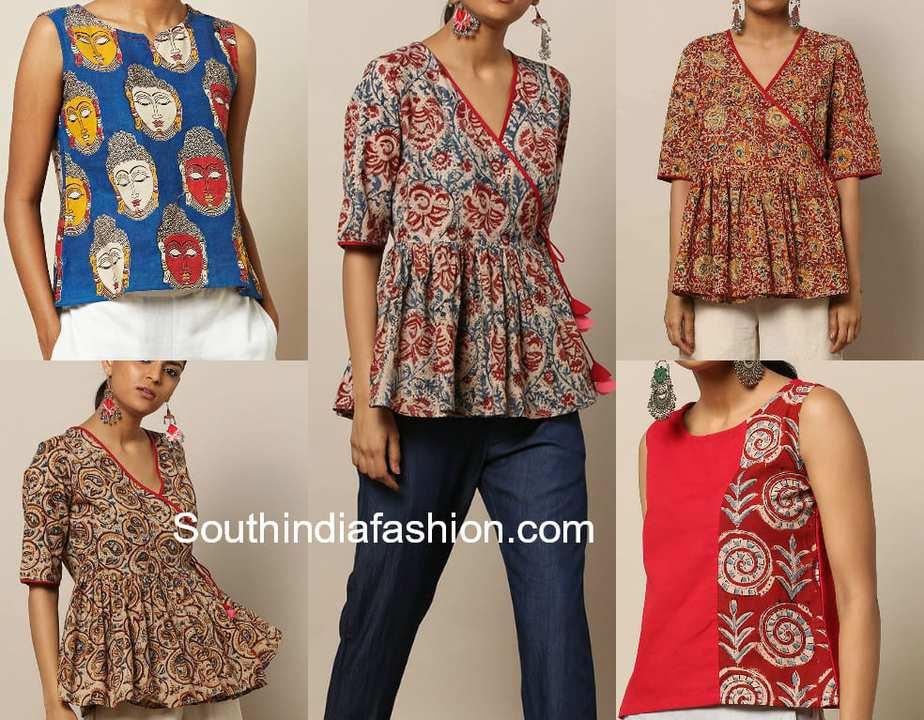 kalamkari tops for jeans and skirts