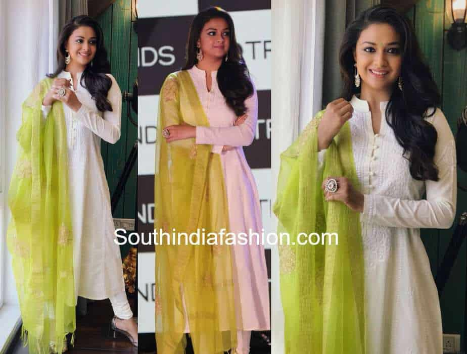 11a01e7efa8921 Keerthy Suresh in Reliance Trends. By. southindiafashion