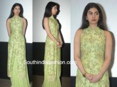 khushi kapoor green salwar suit mr india screening