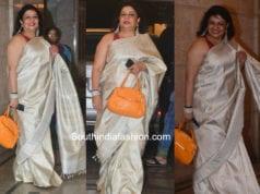 madhu chopra saree in priyanka chopra engagement