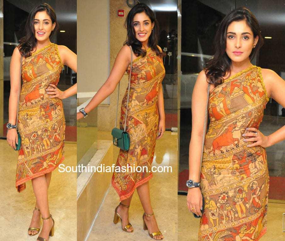 madhu shalini kalamkari dress goodachari success meet