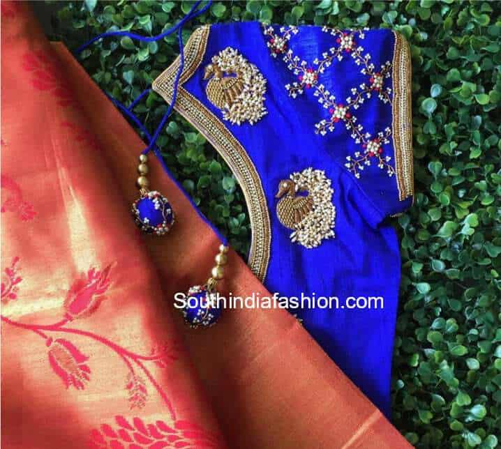 designer blouse for silk sarees