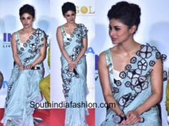 mouni roy in archana rao floral saree at gold teaser launch
